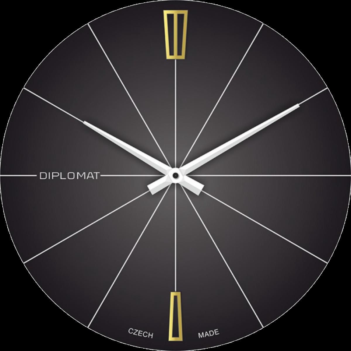 Nástěnné hodiny PRIM Manufacture 1949 - Diplomat černé – Pohanka ... 3e0a002552b